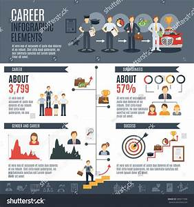 Career Infographics Set With Employment And Promotion