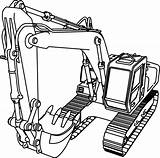 Coloring Excavator Pages Popular sketch template