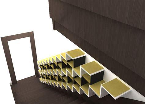 rangement chaussures escalier