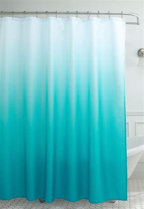turquoise shower curtain turquoise ombre waffle weave shower curtain everything turquoise
