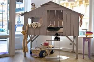 Cabane Chambre Enfant : hauteur cabane enfant les cabanes de jardin abri de jardin et tobbogan ~ Teatrodelosmanantiales.com Idées de Décoration