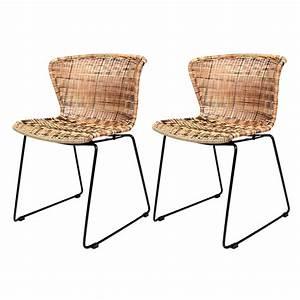 Chaise En Résine Tressée : chaise mysore en r sine tress e naturelle lot de 2 d couvrez les chaises mysore en r sine ~ Dallasstarsshop.com Idées de Décoration