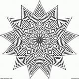 Coloring Geometric Complex Popular sketch template