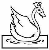 Coloring Swan Pages Swans Colouring Nurse Sydney Activities Animal Template sketch template
