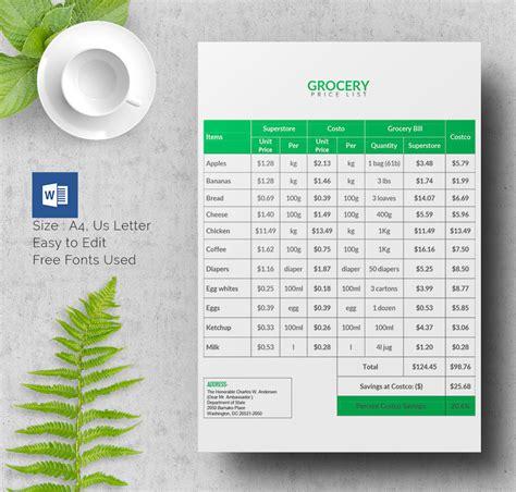 Price List Template Price List Brochure Template Csoforum Info