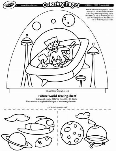 Coloring Future Pages Flags Crayola Drawing Dome