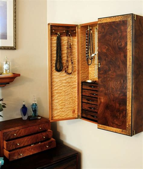 Wall Mount Jewelry Cabinet by Custom Wall Mounted Jewelry Cabinet By Heller And Heller