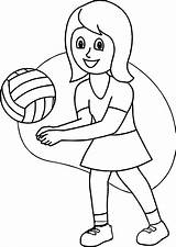 Coloring Playing Volleyball Soccer Printable Joy Olphreunion Colouring Boys Coloringfolder sketch template