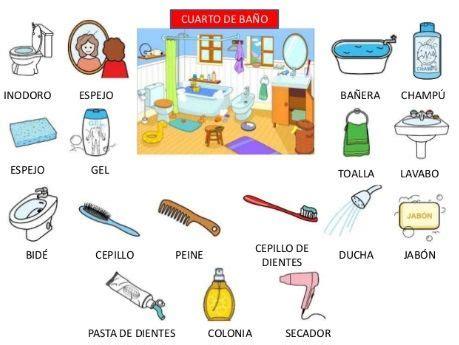 cosas bano mi rutina diaria spanish school