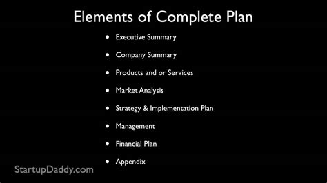 write  business plan   start  business