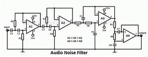 Audio Noise Filter And Bandpass Filter For Audio Frequency