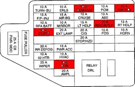 1999 Pontiac Montana Fuse Diagram by 2000 Pontiac Sunfire Probably Theft System Hello There I