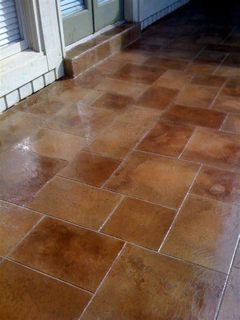 antique stained decorative concrete tile flooring memphis