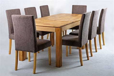 Solid Oak Extending Dining Table And Chairs Set
