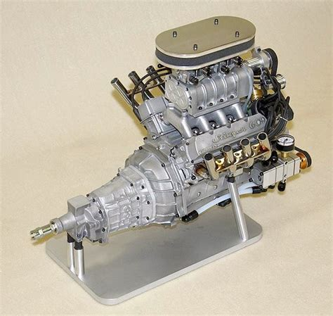World's Smallest Supercharged Four-stroke V8 Engine