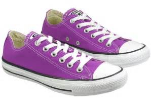 Purple Converse All-Star Shoes