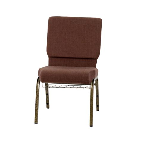 hercules series 18 5 w church chair in brown fabric with