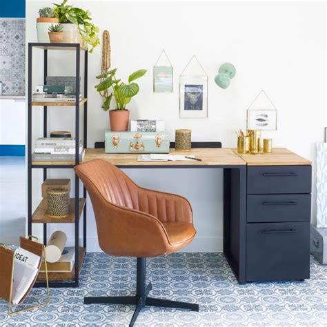 cognac bureau fauteuil de bureau cognac au design vintage taaora