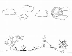 Sky clipart black and white - Pencil and in color sky ...