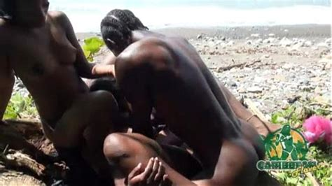 jamaican outdoor threesome with tight lesbians pussy xvideos