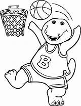 Barney Coloring Pages sketch template