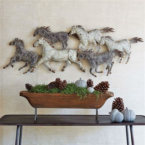 Traditional tapestries depict scenes and images which are drawn from the lives and natural environments of the. Rustic Metal Wall Art: Western Stampede Metal Wall Art