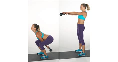 kettlebell swing squat fitness popsugar workout moves calories hiit