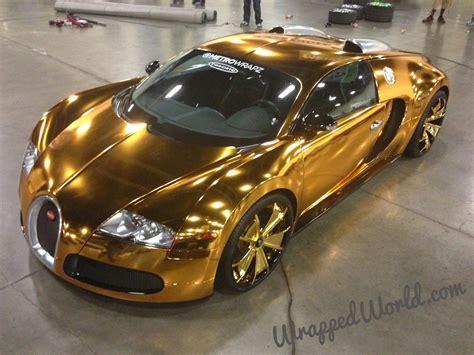 Golden Bugatti Veyron bugatti veyron gold wrapped for us rapper flo rida