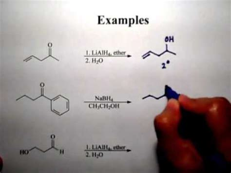 reaction  aldehydes  ketones youtube