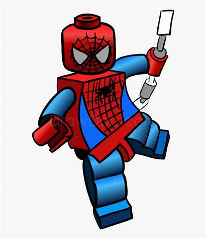 Lego Clipart Spiderman Drawing Heroes Svg Clip