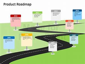 Product roadmap powerpoint template editable ppt for Roadmap slide template free