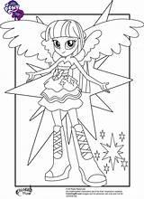 Pony Coloring Equestria Twilight Sparkle Printable sketch template