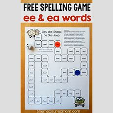 Free Spelling Game For Ee And Ea Words  The Measured Mom
