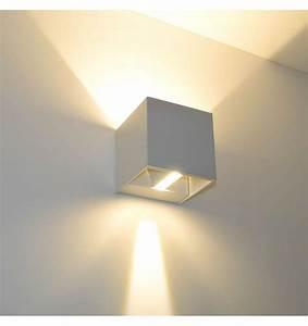 Luminaire Interieur Design : applique murale blanche led design cubic kosilum ~ Premium-room.com Idées de Décoration