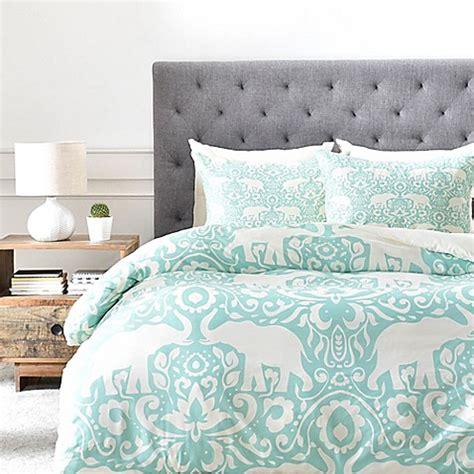 elephant duvet cover deny designs elephant duvet cover in green bed bath beyond