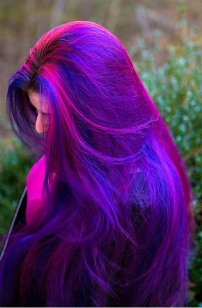 Hair Purple Dyed Dark Burgundy Plum Dye