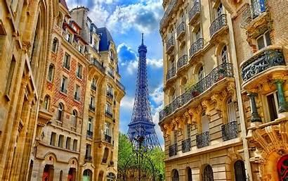 France Paris Eiffel Tower Buildings Between 1600
