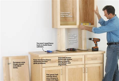 easy way to make own kitchen cabinets make cabinets the easy way wood magazine 9866