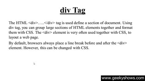 Div Tags Html 185 Div Tag In Html
