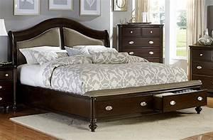 Marston, Dark, Cherry, Cal, King, Platform, Storage, Bed, From, Homelegance, 2615kdc