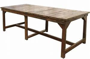 tables anciennes recuperees vintage de grandes dimensions With table de cuisine ancienne en bois