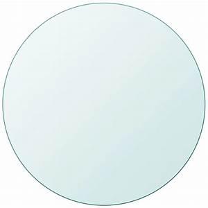 Dessus De Table En Verre : acheter vidaxl dessus de table ronde en verre tremp 800 mm pas cher ~ Teatrodelosmanantiales.com Idées de Décoration