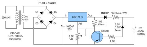 Battery Charger Circuit Under Repository Circuits