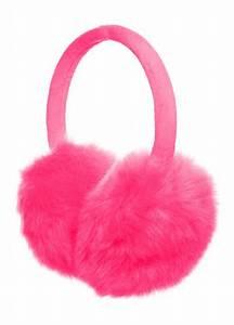 Pink Fluffy Earmuffs | Atitude Clothing