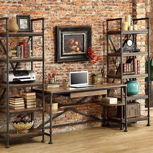Metal And Woods : metal and wood bookcase for creating warm modern blend ~ Melissatoandfro.com Idées de Décoration
