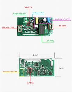 Sonoff Basic  Wifi Remote Control Smart Switch Mqtt