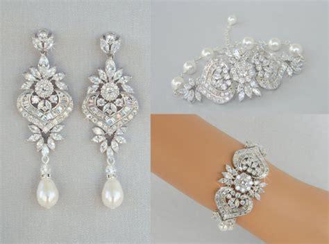 bridal earrings bridal jewelry set wedding