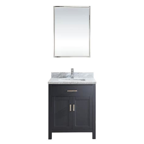 bathroom vanity mirror cabinet 30 inch pepper gray finish transitional bathroom vanity