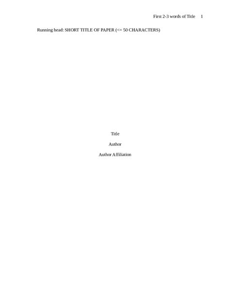 2018 Apa Title Page  Fillable, Printable Pdf & Forms. Free Letterhead Templates. Mission Statement Example For Resumes Template. Objectives For Medical Assistant Template. Top Job Searching Websites Template. Senior Accountant Resume Example Template. Index Card Word Template. Flash Mob Wedding Proposal. Sample Cv For Office Administrator Template
