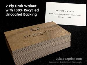 Wooden Business Cards - Printed Wood that looks Natural